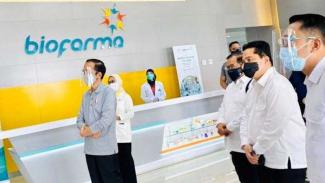 Presiden Jokowi Menyaksikan Uji Coba Vaksin COVID-19