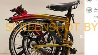 Tangkapan layar (screenshot) sebuah akun Instagram yang mengklaim PT Pegadaian untuk melelang secara online sebuah sepeda merek Brompton.