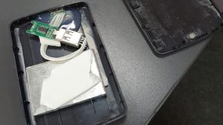 Hard disk eksternal abal-abal.