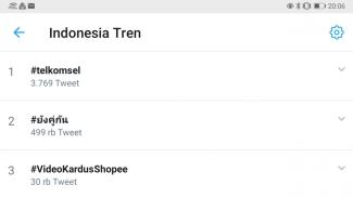 Telkomsel jadi trending topic di Twitter.