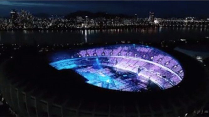 Ilustrasi arena konser BTS
