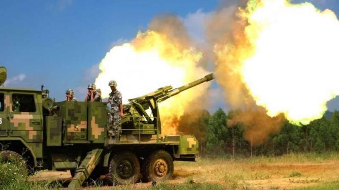 VIVA Militer: Meriam Howitzer 122mm militer China