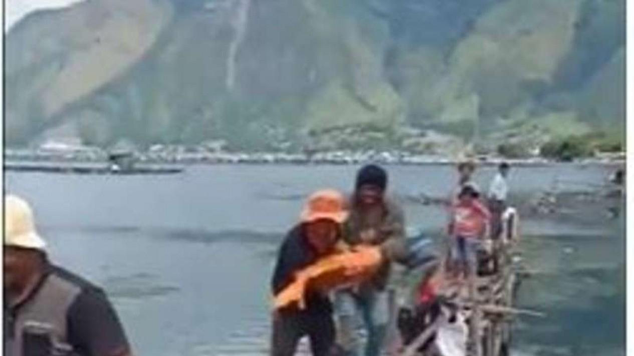 Viral ikan mas 15 kg ditangkap di danau Toba