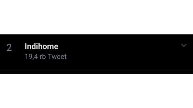 Indihome jadi trending topic di Twitter.