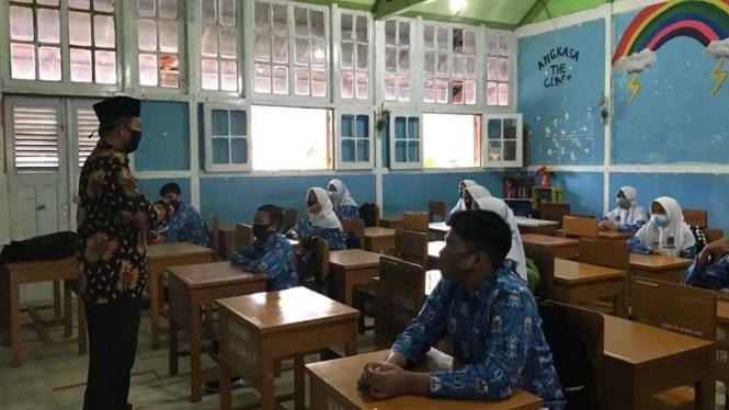 Kota Padang Panjang perdana gelar belajar tatap muka di tengah pandemi COVID-19. (Foto ilustrasi)