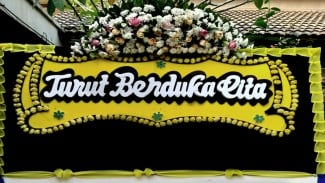 Karangan bunga turut berduka cita (foto ilustrasi)