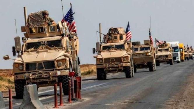 VIVA Militer: Konvoi kendaraan militer Amerika Serikat (AS) di Suriah