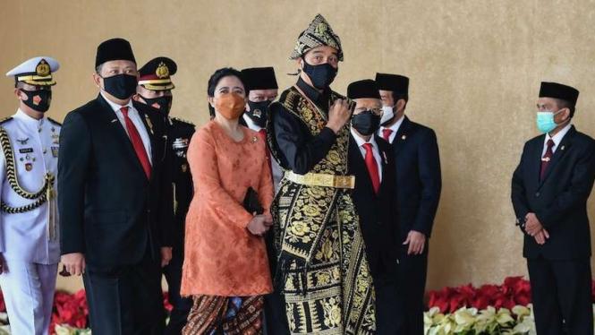 Presiden Joko Widodo di sidang tahunan MPR dan Sidang Bersama DPR-DPD 2020