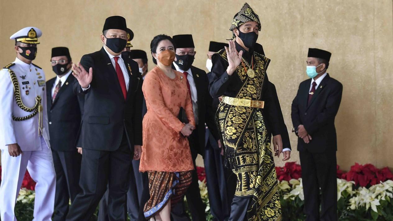 Presiden Jokowi di Sidang Tahunan MPR 2020