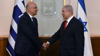 VIVA Militer: Menlu Yunani, Nikos Dendias, dan PM Israel, Benjamin Netanyahu