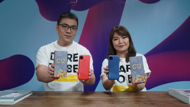 Peluncuran Realme C12 di Indonesia.