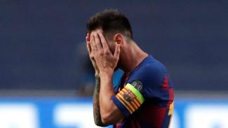 Ekpresi sedih Lionel Messi usai Barcelona dibantai Bayern Munich