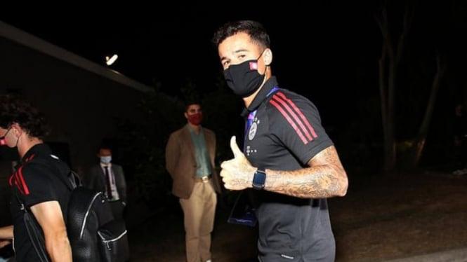 Gelandang Bayern Munich, Philippe Coutinho, puas usai bantai Barcelona