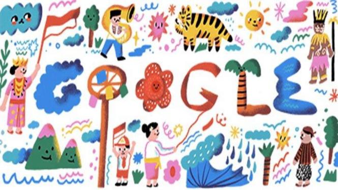 Google Doodle HUT ke-75 RI.