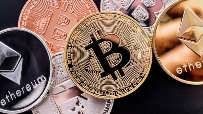 Bitcoin dan aset kripto lainnya.