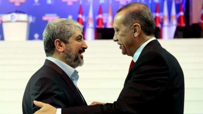 VIVA Militer: Recep Tayyip Erdogan dan Pemimpin Hamas, Saleh al-Arouri