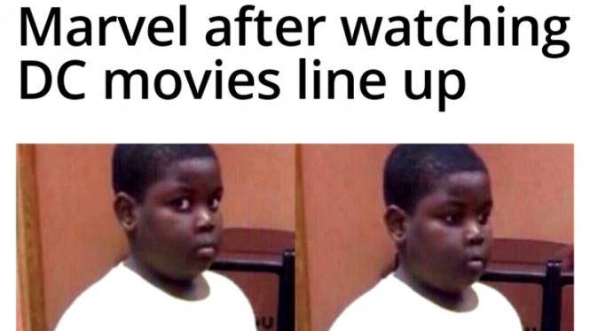 Meme kocak warganet sindir Marvel usai lihat line up film DC