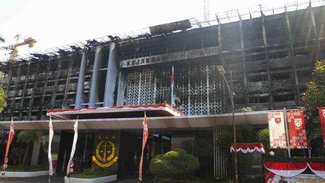 Kebakaran hebat di gedung Kejagung