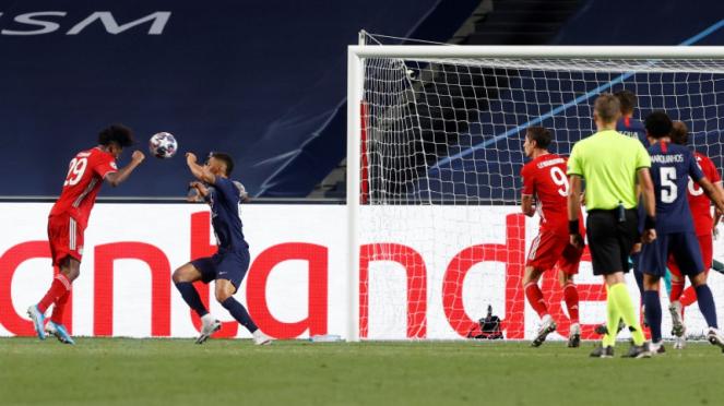 Gol Kingsley Coman ke gawang Paris Saint Germain