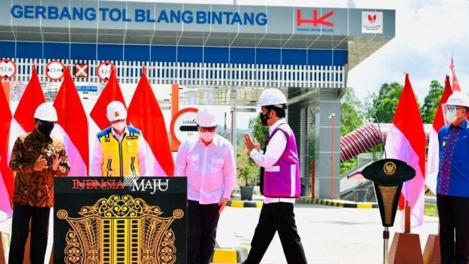 Presiden Joko Widodo Saat Peresmian Tol Sigli-Banda Aceh Seksi 4