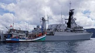 Lagi, TNI AL Tangkap Kapal Berbendara Vietnam di Laut Natuna