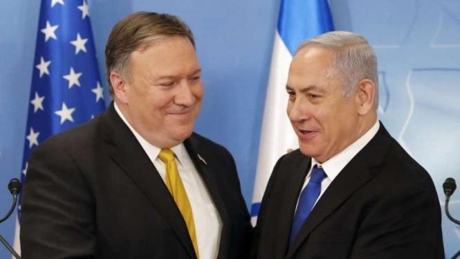 VIVA Militer : Menlu AS Mike Pompeo bertemu PM Israel Benjamin Netanyahu