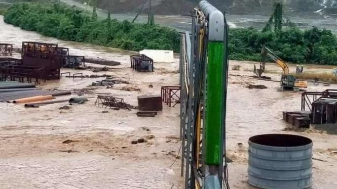 Banjir di kawasan Industri PT IWIP, pabrik nikel di Halmahera Tengah