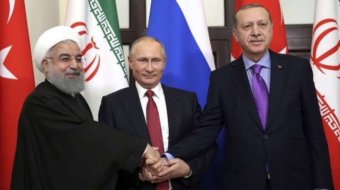 VIVA Militer: Hassan Rouhani, Vladimir Putin, dan Recep Tayyip Erdogan