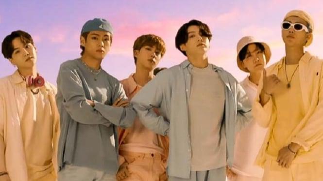BTS, salah satu grup K-pop idola.