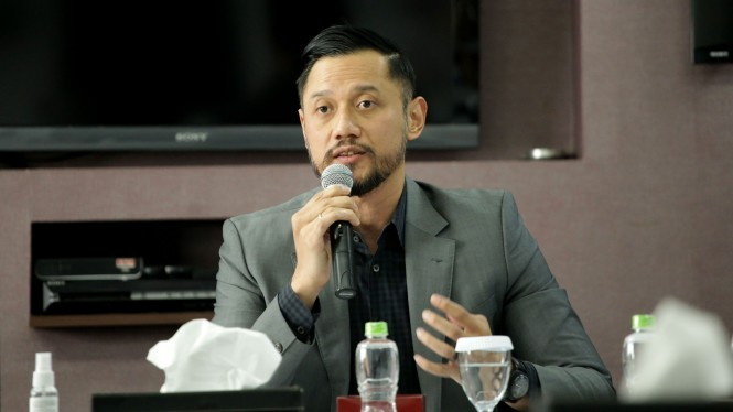 Ketua Umum Partai Demokrat, Agus Harimurti Yudhoyono, alias AHY di kantor tvOne.