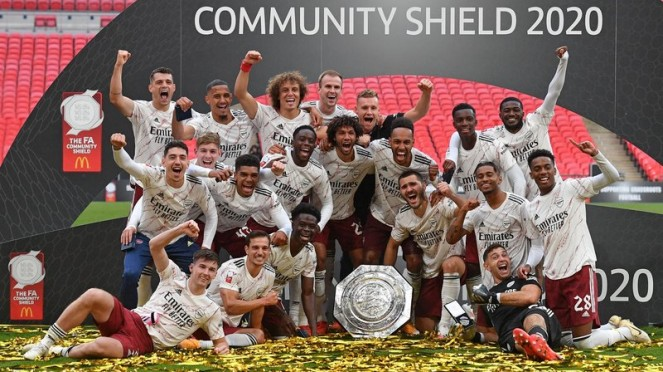 Arsenal juara Community Shield 2020