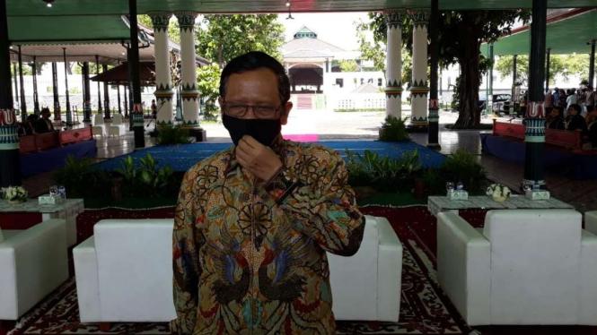 Menkopolhukam Mahfud MD saat di Yogyakarta