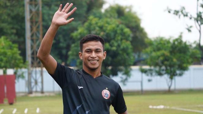 Pemain Persija Jakarta Osvaldo Haay