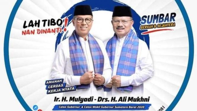 Ir. H. Mulyadi dan Drs. H. Ali Mukhni calon Gubernur dan Wakil Gubernur Sumbar.