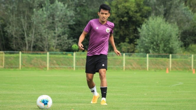Witan Sulaeman bersama Timnas Indonesia U-19 di Kroasia
