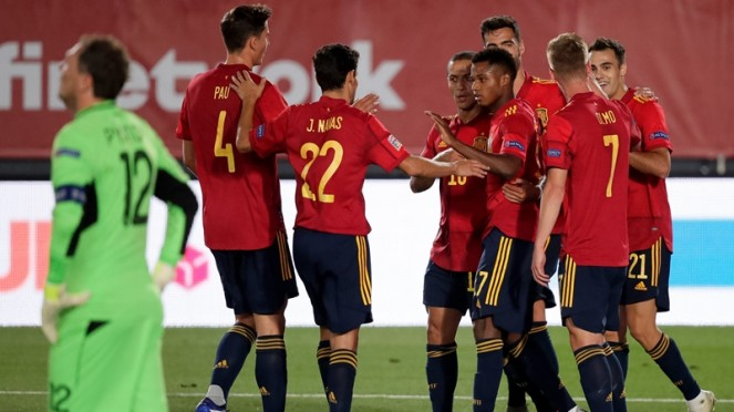 Pertandingan Timnas Spanyol vs Ukraina