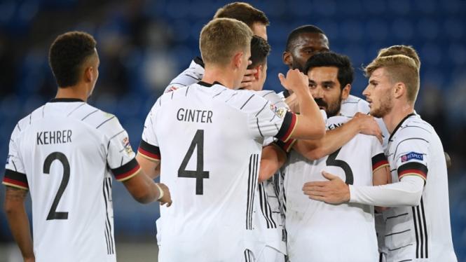 Timnas Jerman saat tampil di UEFA Nations League