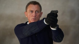 Daniel Craig di film James Bond, No Time to Die.