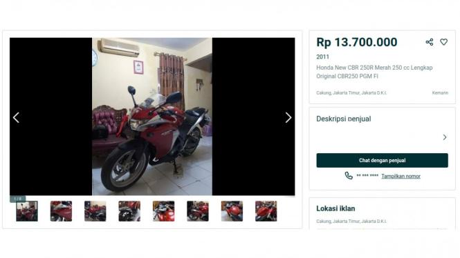 Honda CBR 250 bekas