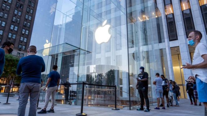 Apple Store di New York, Amerika Serikat (AS).