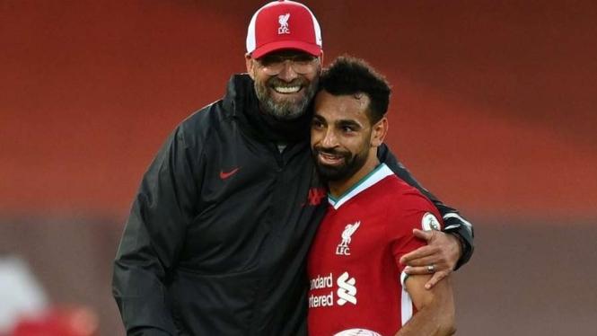 Mohamed Salah dan manajer Liverpool, Juergen Klopp