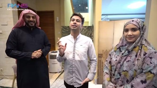 Syekh Ali Jaber kunjungi rumah Raffi Ahmad.