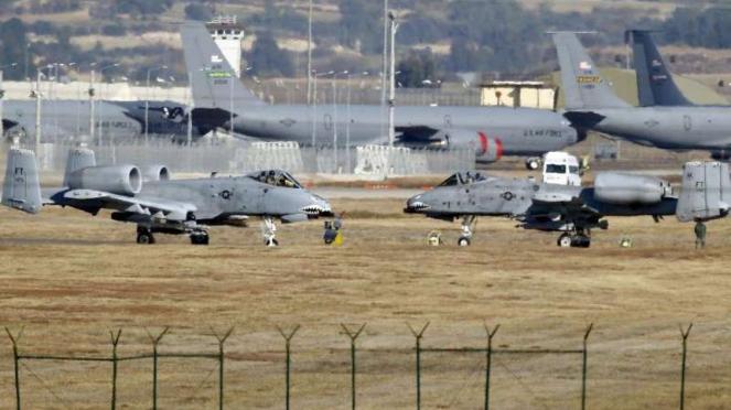 VIVA Militer: Pesawat Angkatan Udara AS di Pangkalan Udara Incirlik, Turki