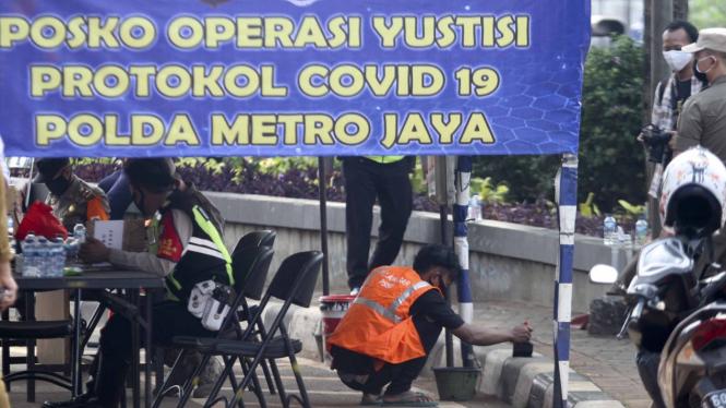 Hari pertama PSBB total di DKI Jakarta, Senin, 14 September 2020.