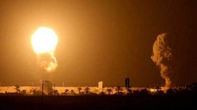 VIVA Militer: Rudal pejuang Islam Gaza bombardir Israel.