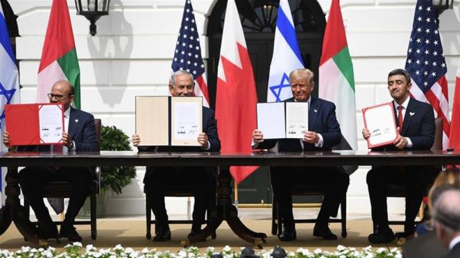 Penandatanganan Perjanjian Damai UEA dan Bahrain dengan Israel di Gedung Putih