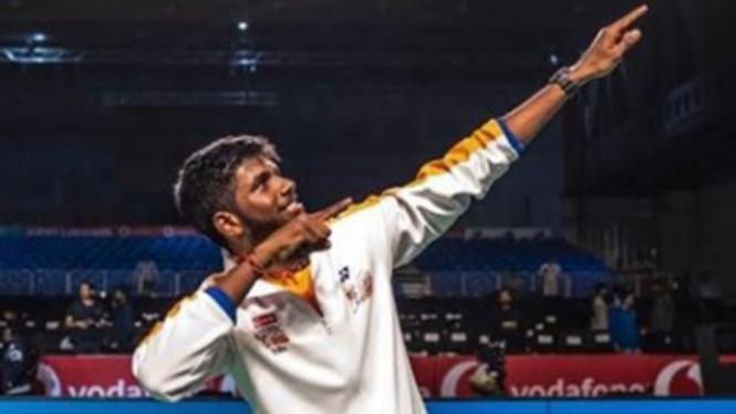 VIVA Bulutangkis: Pemain ganda putra India, Satwiksairaj Rankireddy.