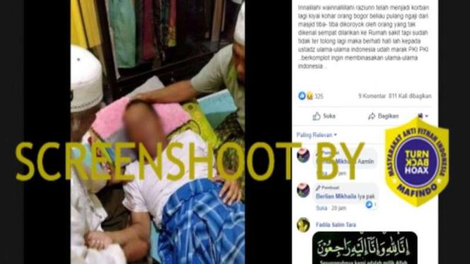 Hoax Kiai Kohar dikeroyok hingga meninggal