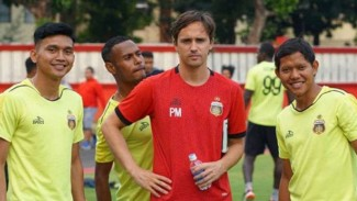Sesi latihan Bhayangkara Solo FC.