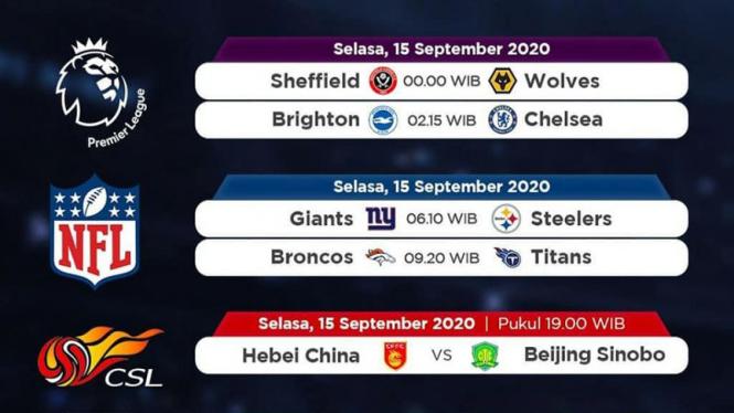 Jadwal pertandingan siaran langsung di Mola TV.
